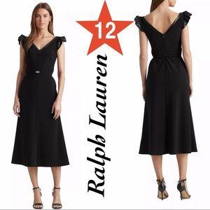 Ralph Lauren Sequins dress size 12 black NWT